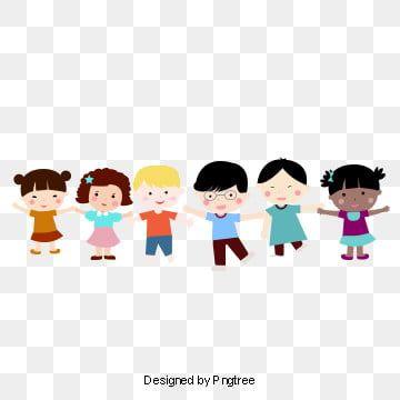 ملف نمو الأطفال المرسوم باليد تنزيل ملف النمو رياض الأطفال ملف رياض الأطفال Children Holding Hands Cartoon Clip Art Happy Cartoon