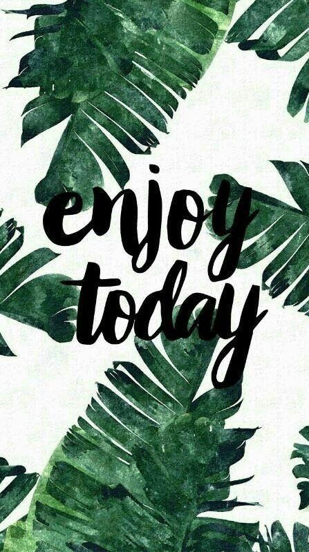 Enjoy Today Iphone Wallpaper Iphonebackgrounds Iphone Wallpaper Tropical Wallpaper Iphone Summer Tropical Wallpaper
