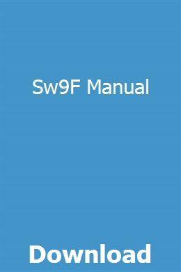 Sw9F Manual | nmysosdepbea | Repair manuals, John deere