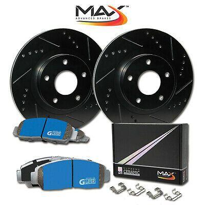 2009 For Dodge Ram 2500 Rear Disc Brake Rotors and Ceramic Brake Pads