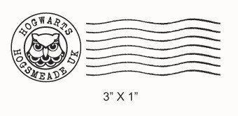 Hogwarts Postmark Rubber Stamp 215 Harry Potter Owl Harry Potter Etsy Harry Potter Subscription Box