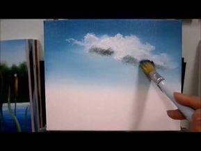 Yagli Boya Gokyuzu Nasil Yapilir Gokyuzu Resmi Cizimi Youtube Resim Cizim Bulutlar