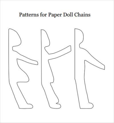 8 Paper Doll Samples Sample Paper Doll Chain Paper Doll