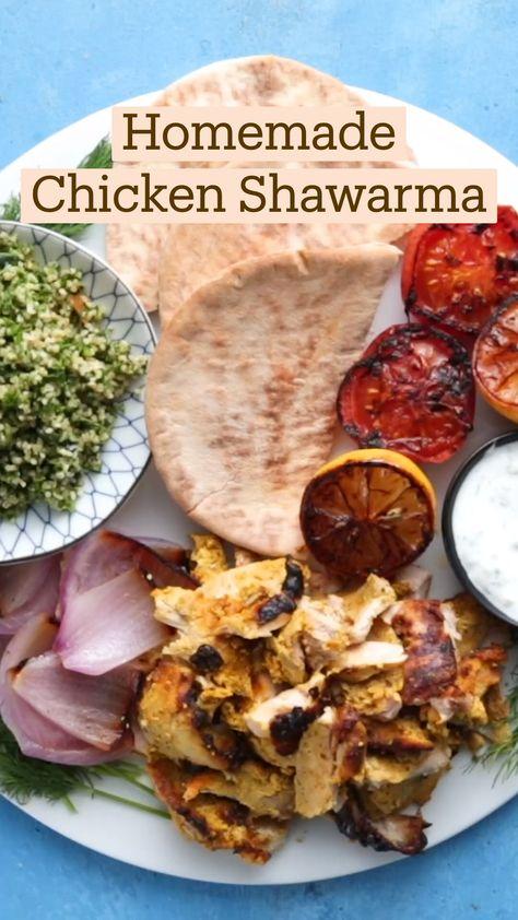 Homemade Chicken Shawarma