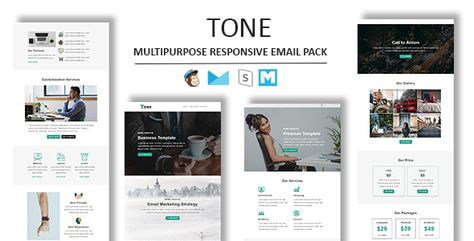 Tone - Multipurpose Responsive Email Template With Stamp Ready Builder Access