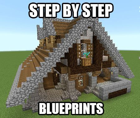 389 best creativerse images on pinterest castles minecraft get step by step blueprints for this house plus a bunch more minecraft blueprints by malvernweather Images