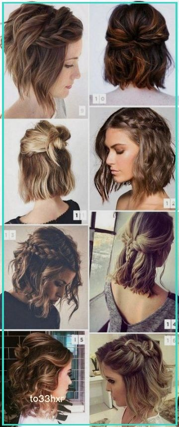 This Quick Messy Updo For Short Hair Is So Cool Short Hair Styles Short Hair Updo Medium Length Hair Styles