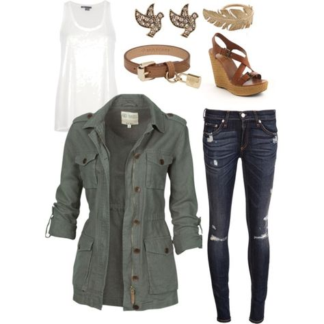 cute military jacket, and outfit!