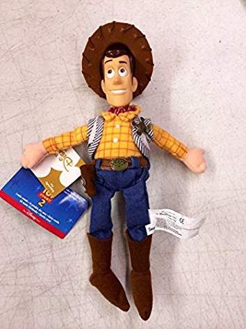 """DISNEY STORE EXCLUSIVE TOY STORY WOODY 10/"""" PLUSH BEAN BAG TOY"""