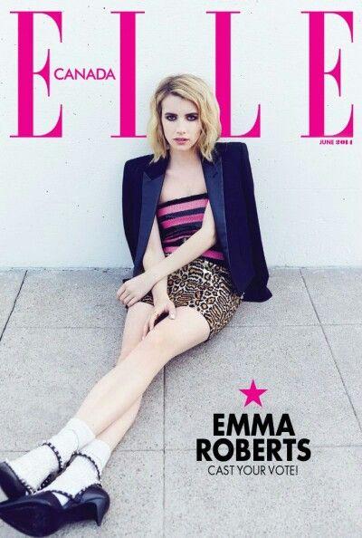 Emma Roberts Elle Magazine ( Canada )