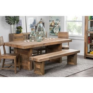 The Gray Barn Fairview Reclaimed Wood Dining Bench Solid Wood