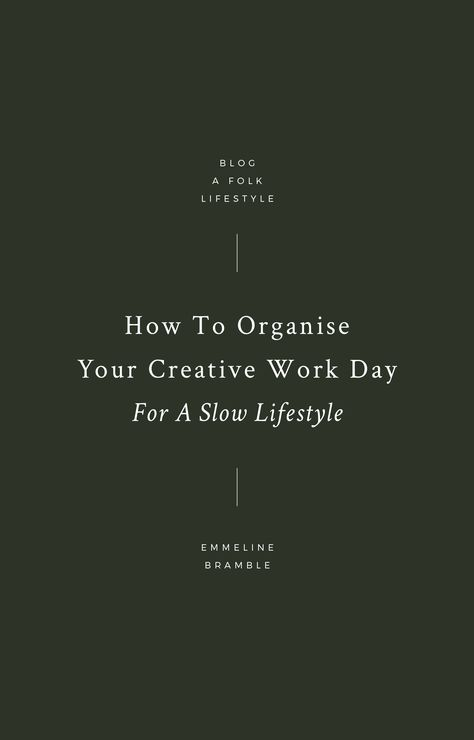 How to Organise Your Schedule as a Creative Freelancer
