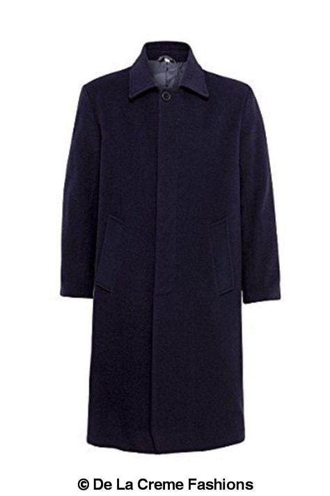 <transcy>De La Creme HOMBRE - Abrigo largo formal de seguridad Undertaker de lana y cachemira</transcy>