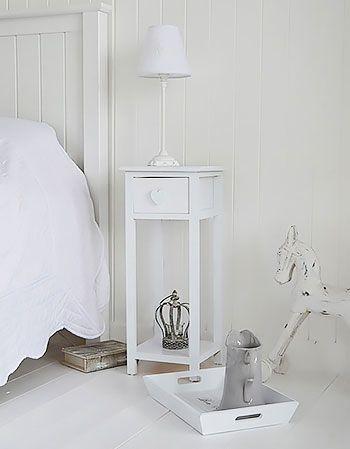 White Bedside Tables In 2020 Vintage