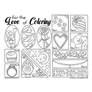 Adult Coloring Pages Valentine Coloring Pages Countdown