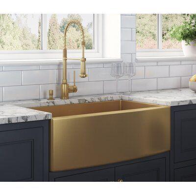 Ruvati Terraza 36 L X 22 W Farmhouse Kitchen Sink Finish Gunmetal With Images Farmhouse Sink Kitchen Stainless Steel Farmhouse Kitchen Sinks Farmhouse Kitchen