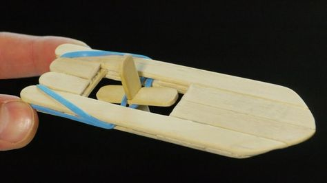 How to make a popsicle stick and rubber band paddle boat | The Kid Should See This