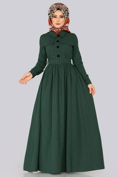 Modaselvim Elbise Kemerli Kislik Elbise 8397d170 Zumrut Afgan Elbiseler Elbise Elbiseler