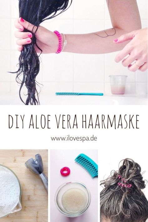 Diy Aloe Vera Haarmaske Haar Maske Aus Frischer Aloe Vera Selber