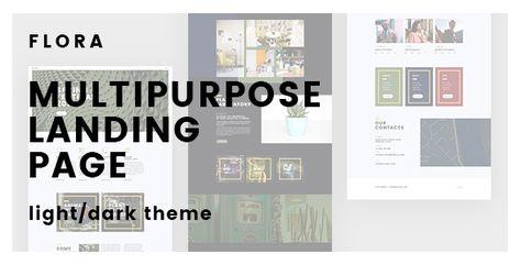 Flora – Creative Multipurpose Landing Page