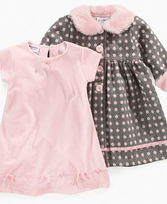 brillante n color mejor mayorista especial para zapato Blueberi Boulevard Baby Set, Baby Girls Dress and Coat ...