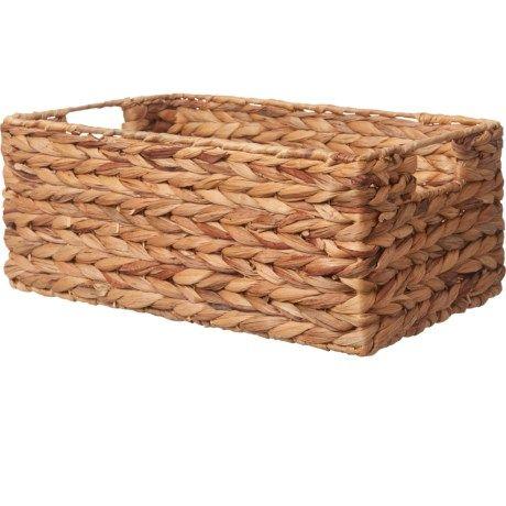 Michael Graves Water Hyacinth Woven Storage Basket 14x9 5x6 Woven Baskets Storage Storage Baskets Water Hyacinth