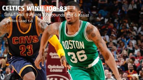 CELTICS WINNN!! The Celtics take game 1 from the Cavs game 2 is on