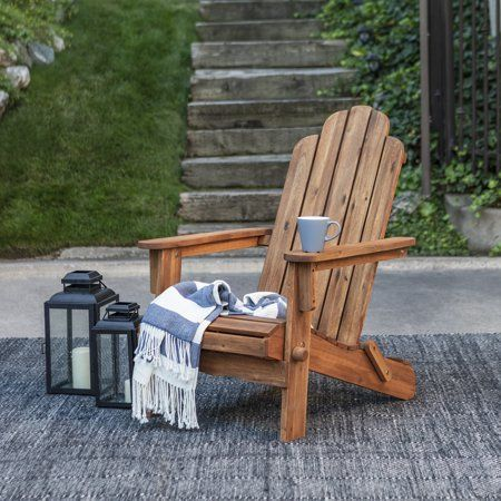 Manor Park Acacia Wood Outdoor Adirondack Chair Brown Size 39