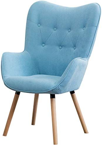 Best Seller Lrzs Furniture Leisure Sofa Simple Modern Lazy Chair Bedroom Small Apartment Single Living Room Fabric Balcony Sofa Chair Color Sky Blue Online In 2020 Simple Sofa Shabby Chic