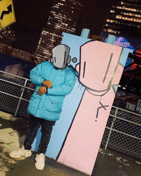 R O B O T S W I L L K I L L 🌐 -random street photography | @perfect.angles_ 📸  Model: @theskypilot_  Street art: @chrisrwk | @robotswillkill . . .  #random #art #streetart #robotswillkill #chrisrwk #streetlife #citylife #nightlife #nyc #newyork #newyorkcity #manhattan #worldtradecenter #vibes #vibrant #bright #color #blue #bold #robot  #graffiti #A3B #alwayseatingbetter #marmot #adidas #yezzy #streetwear #streetphotography #mobilephotography  #photography
