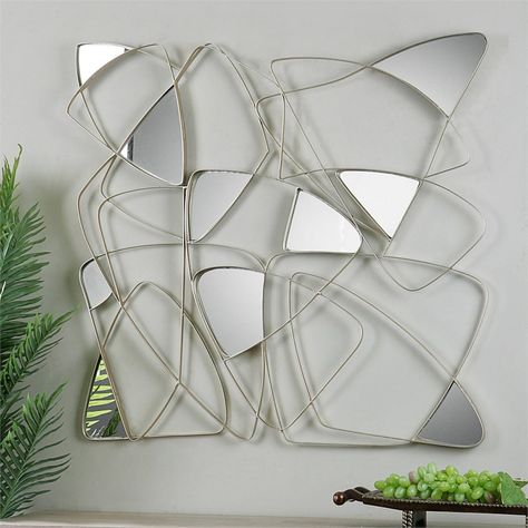 Uttermost Oswin Wall Decor Mirror, Uttermost Oswin Abstract Mirrored Wall Art