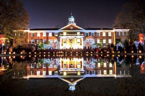 Elon University at Christmas time. Where I grew up; where I go to school.