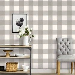 Dip Design 10pc Personal Large Wall Tiles Silver Peel And Stick Wallpaper Plaid Wallpaper Home Decor