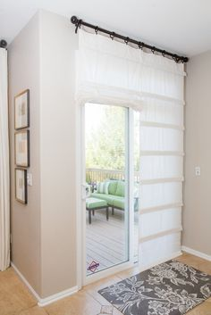 White Sliding Glass Door Curtain With Images Door Coverings