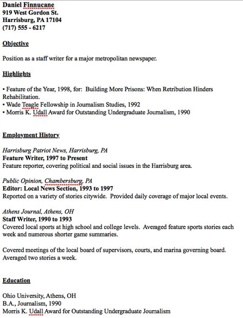Example Of Journalist Resume - http\/\/resumesdesign\/example-of - high school basketball coach resume