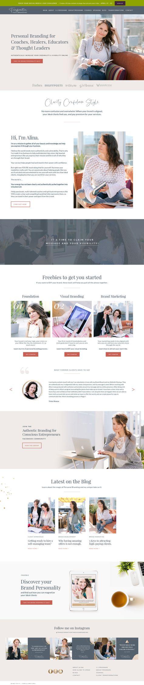 Alina Website Design