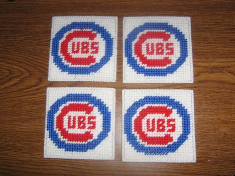 Items similar to Chicago Cubs coasters on Etsy