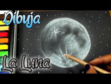 Como Dibujar El Cielo La Luna Y Las Estrellas Tutorial De Dibujo Youtube Como Dibujar Tiza Pastel Tutorial De Dibujo