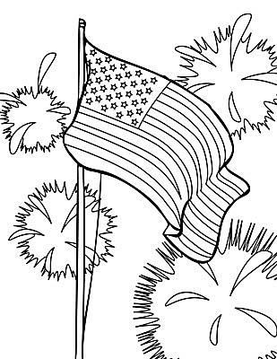 Free Printable 4th Of July Coloring Pages Flag Coloring Pages