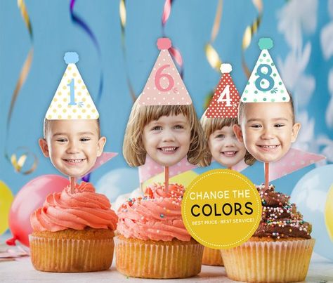 Pleasant Cupcake Toppers Birthday Cupcake Toppers Face Birthday Cake Funny Birthday Cards Online Alyptdamsfinfo
