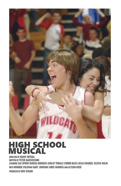 High School Musical minimal A6 movie poster