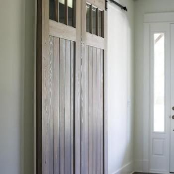 Pantry With Sliding Barn Door Transitional Kitchen Advanced Renovations Interior Barn Doors Interior Barn Door Designs Sliding Door Design