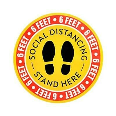 10 Pack 12 Non Slip Social Distancing Floor Decal Sticker Round Sticker Feet F In 2020 Floor Stickers Floor Decal Adhesive Vinyl