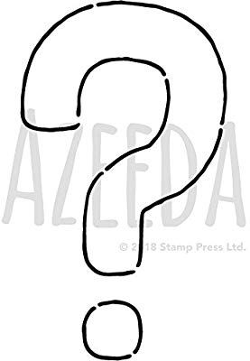 Azeeda A4 Question Mark Wall Stencil Template Ws00001397