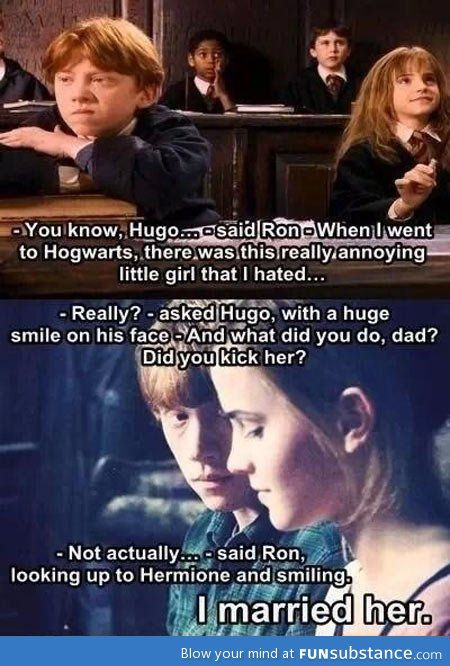 One of the cutest Harry Potter memes ive seen!