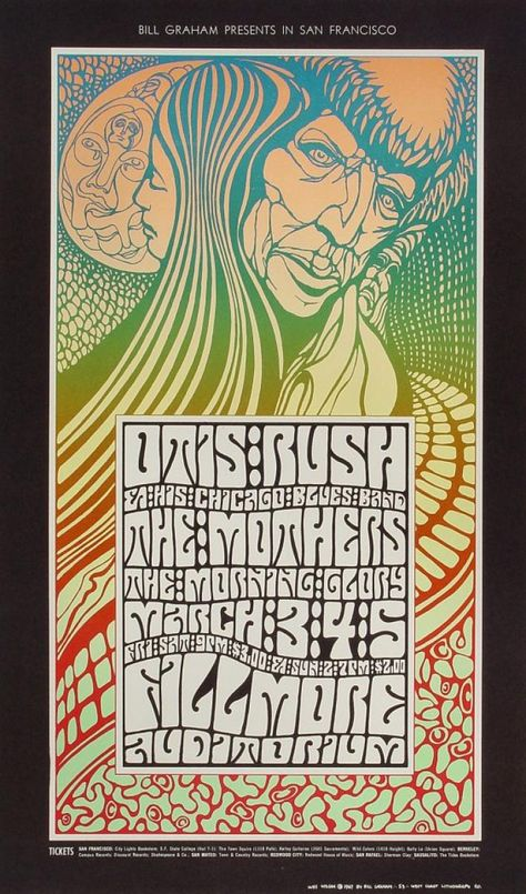 The yin-yang of Wes Wilson's universe features prominently in BG053. The male and female figures appear Native American, worshipers who, like Wilson, used ...