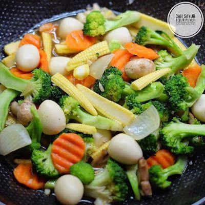 Cah Sayur Telur Puyuh Masakan Vegetarian Resep Makanan Sehat Resep Masakan Sehat