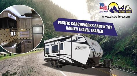 Pacific Coachworks Rage N Toy Hauler Travel Trailer With Large