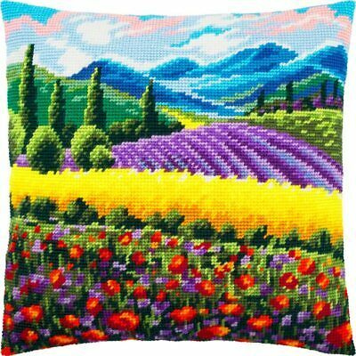 Venice Printed Tapestry Canvas Throw Pillow 16/×16 Inches European Quality Needlepoint Kit