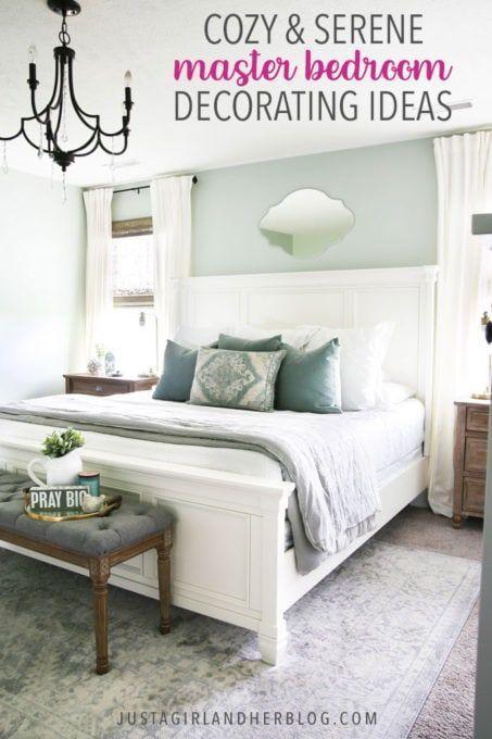 Cozy And Serene Master Bedroom Design Ideas In 2020 Master Bedroom Design Master Bedrooms Decor Serene Bedroom